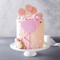 Pink Flamingo Celebration Cake