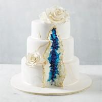 Crystal Blue Geode Cake