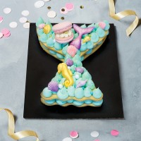 Mermaid Tail Cookie Cake