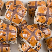 Triple Choc Hot Cross Buns