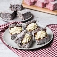 Chocolate Cream Lamington