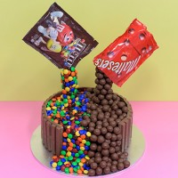 Chocolate Fountain Birthday Cake