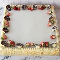Giant Vanilla Slice Cake