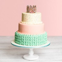 Freckles Crown Birthday Cake