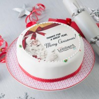 Personalised Christmas Fruit Cake - Round