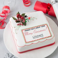 Custom Christmas Fruit Cake - Square