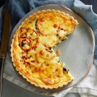 Family Tomato & Spinach Quiche
