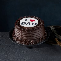 Father's Day - I Love Dad Mud Cake
