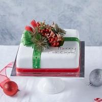 Iced Christmas Fruit Cake - Large Square