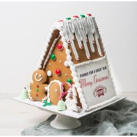 Personalised Christmas Gingerbread Chalet - Large