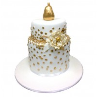 Golden Pear Wedding Cake