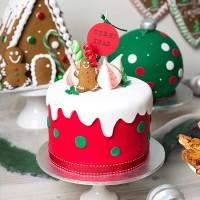Iced Christmas Drip Cake