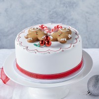 Iced Christmas Gingerbread Man Mud Cake