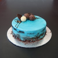 Blue Budget Birthday Cake