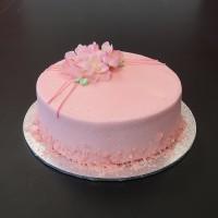 Pretty in Pink Budget Birthday Cake