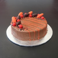 Chocolate Orange Budget Birthday Cake