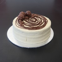 Nutella Swirl Budget Birthday Cake