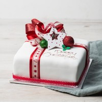 Iced Parcel Mud Cake - Large