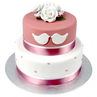 Love Birds Cake - Two Tier