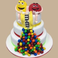 M&Ms Custom Birthday Cake