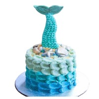 Mermaid's tail Birthday Cake
