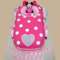 Minnie's Car - Minnie Mouse inspired Custom Cake