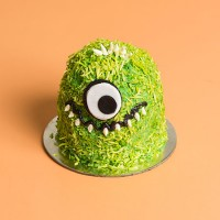Mini Monster Drip Cake - Green