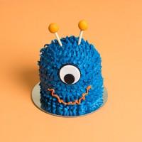 Mini Monster Drip Cake - Blue