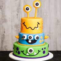 Monsters Halloween Cake