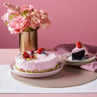 Mother's Day Raspberry Chocolate Vegan Cake