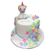 Butterflies & Unicorn Birthday Cake