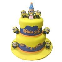 One in a Minion Birthday Cake
