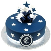 AFL Football Team Cake w Stars