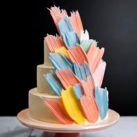 Pastel Brushstroke Birthday Cake