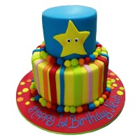Rainbow Road Birthday Cake