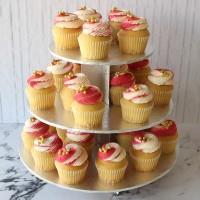 Red & Gold Cupcake Cake