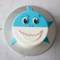 Shark Face Birthday Cake