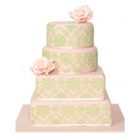 Simply Delightful Wedding Cake