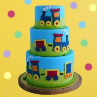 Choo Choo Train Birthday Cake
