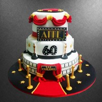 Red Carpet Birthday Cake