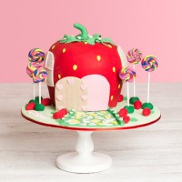Sweet Strawberry Birthday Cake
