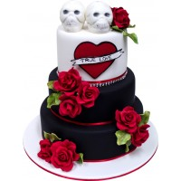 Til Death Do Us Part Wedding Cake