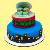 Turtles Custom Cake