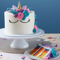 Unicorn Face Cake