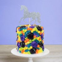 Unicorn Flowers Birthday Cake