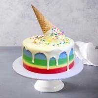 Flourless Ice Cream Rainbow Cake