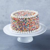 Vegan Rainbow Sprinkles Cake