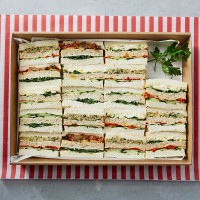Vegetarian Club Sandwiches Platter