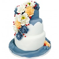 Velvet Crush Wedding Cake