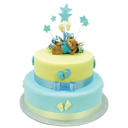Baby Steps Teddy Bear Cake - Two Tiers